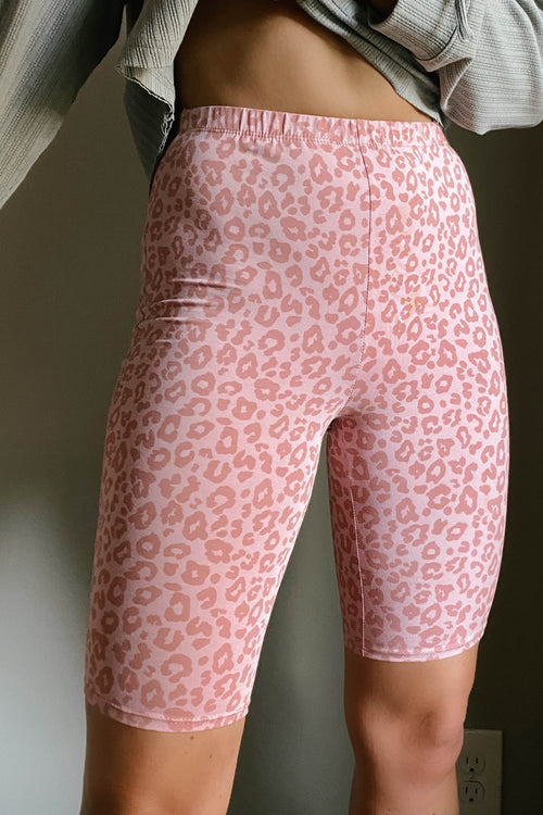 Go Getter Leopard Bike Shorts