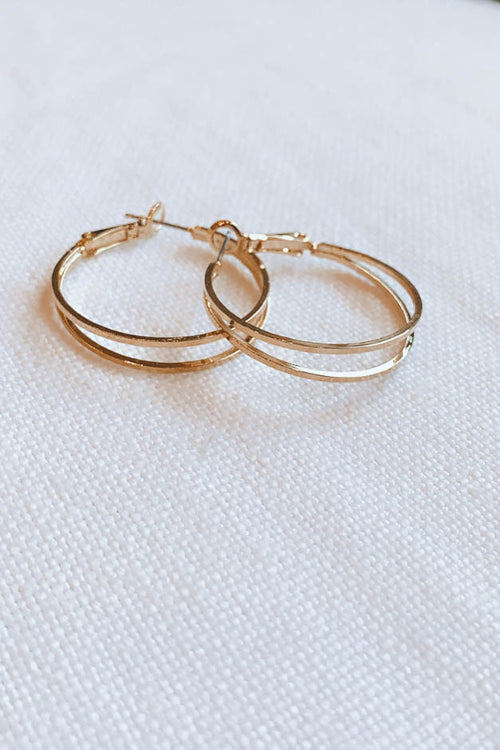 Dainty Double Hoops