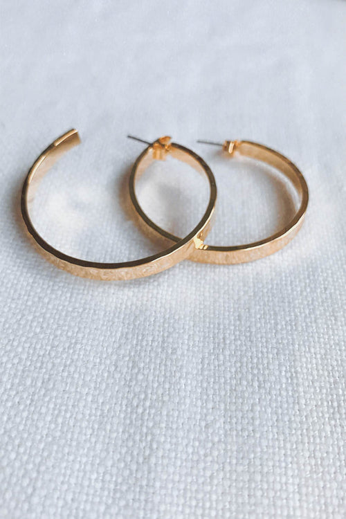 Morocco Hammered Gold Hoops