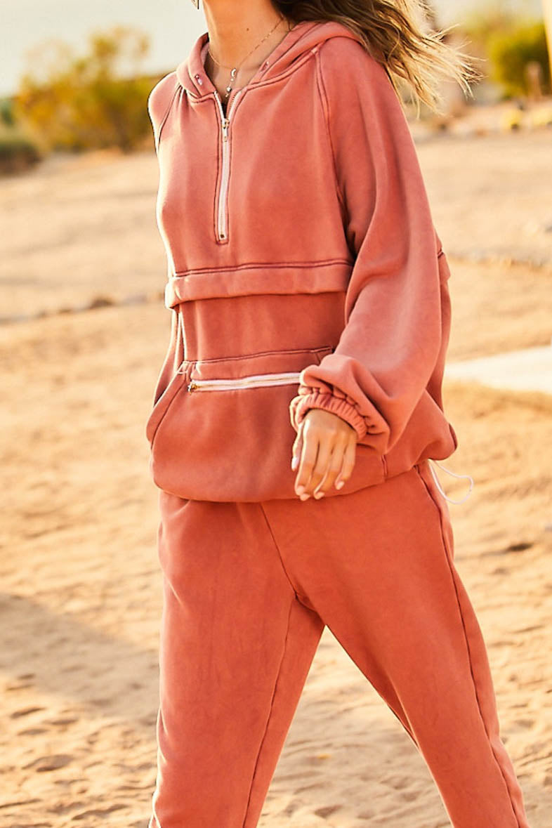 Run Around Rust Pullover Jacket