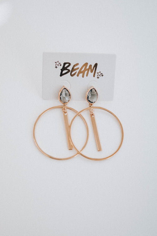Camille Bar Earrings - Charcoal