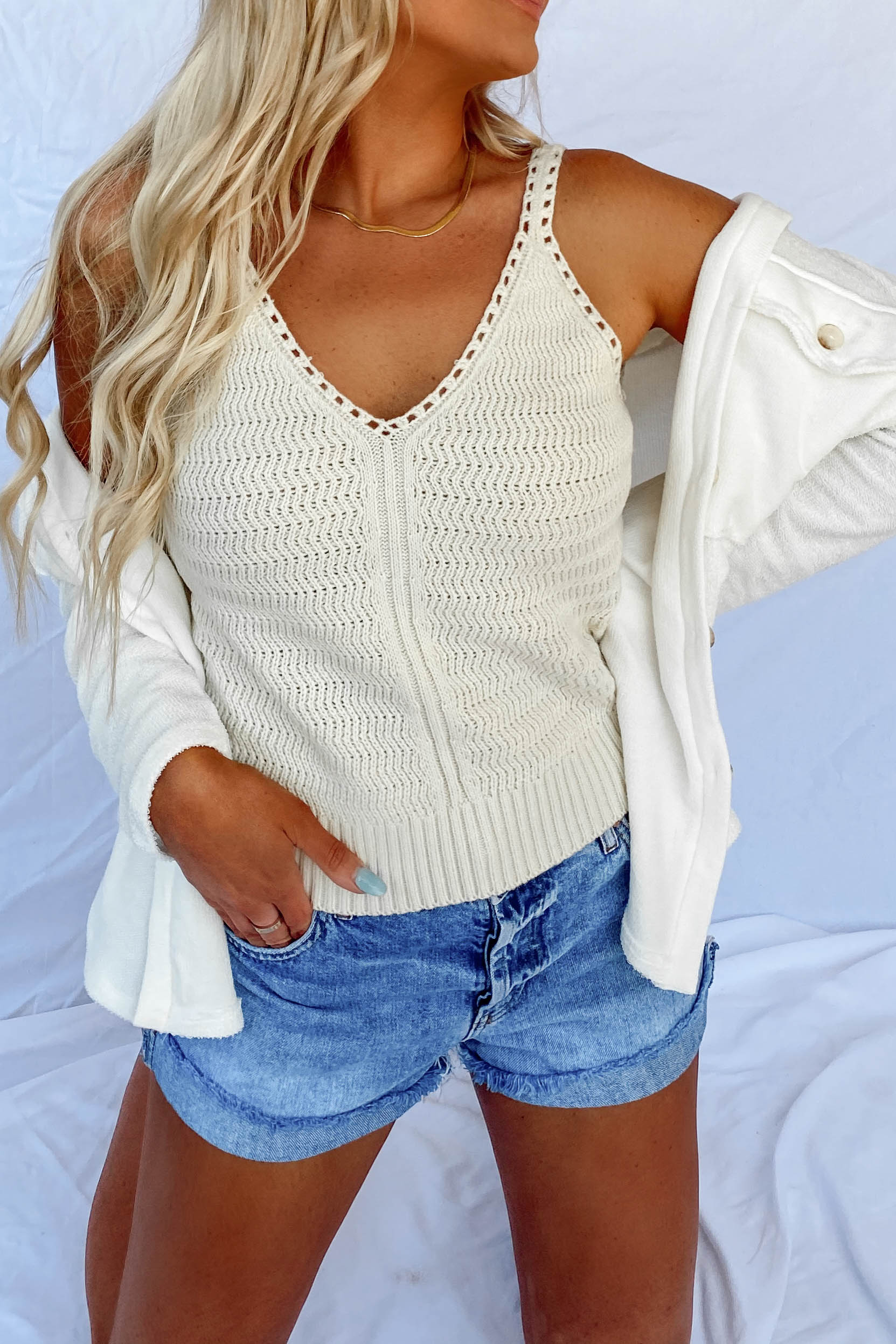 Bali V-Neck Sweater Tank