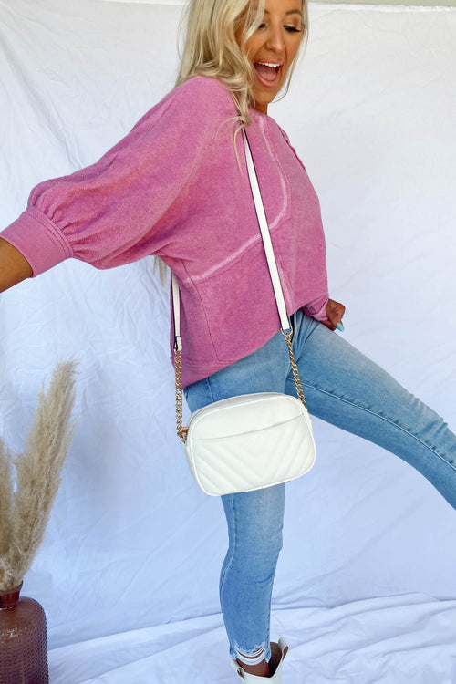 Gigi White Crossbody Bag