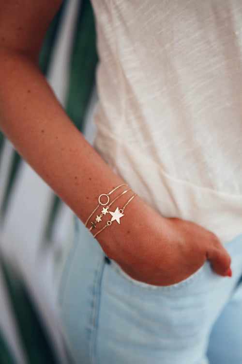 Three Stars Slider Bracelet