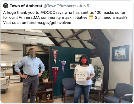 Mask Donation to the Town of Amherst