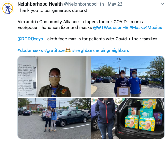 Mask Donation to Neighborhood Health