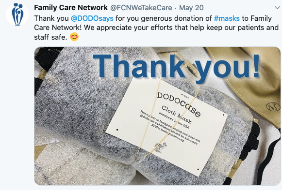 Mask Donation to Family Care Network