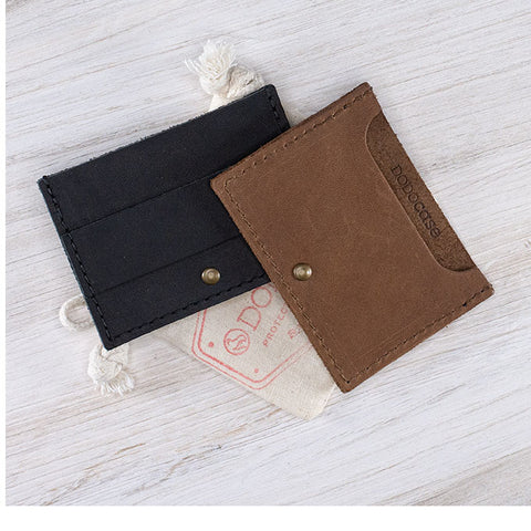 Leather Card and Cash Wallet