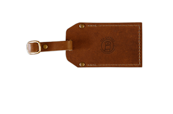 >Leather & Brass Keyring