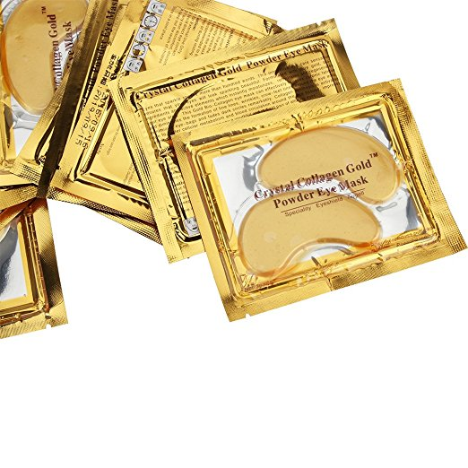 Gold Crystal Collagen Eye Mask Pads 15 packs