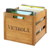Image of Victrola Wooden Record and Vinyl Crate