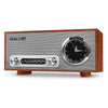 Image of Victrola Bluetooth Analog Clock Stereo with FM Radio and USB Charging