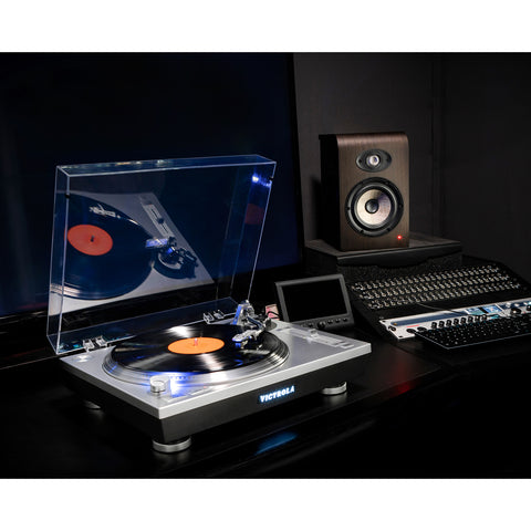 Victrola Pro Series USB Record Player with 3-Speed Turntable and Dust Cover