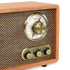 Image of Victrola Retro Wood Bluetooth AM/FM Radio with Rotary Dial