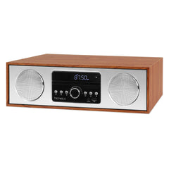 Victrola 30 Watt Wooden Bluetooth Microsystem with CD, USB and Radio