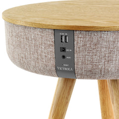 Victrola Bluetooth Wood Speaker Stand with Dual USB Ports