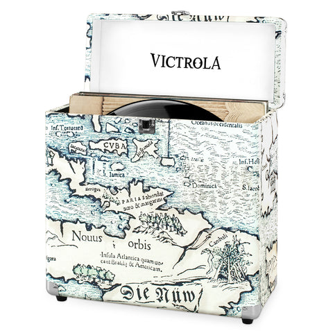 Victrola Storage Case for Vinyl Turntable Records, Map Print