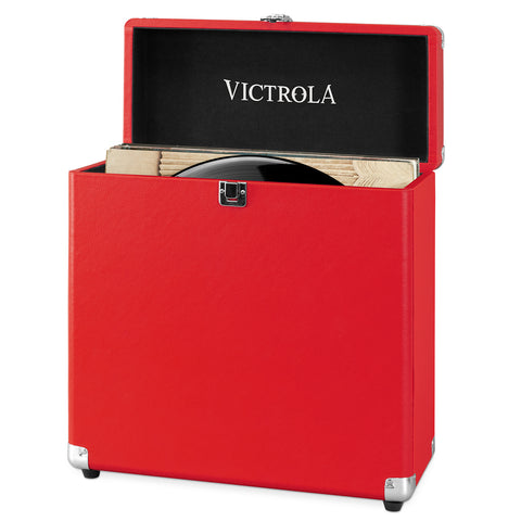 Victrola Storage Case for Vinyl Turntable Records, Red