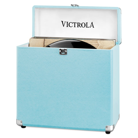 Victrola Storage Case for Vinyl Turntable Records, Turquoise