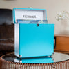 Image of Victrola Storage Case for Vinyl Turntable Records, Turquoise