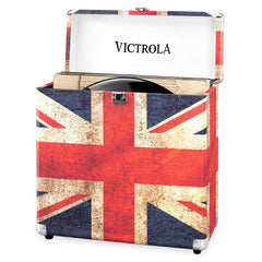 Victrola Storage Case for Vinyl Turntable Records, UK Flag