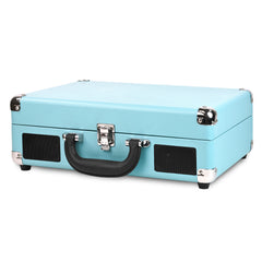 Victrola Bluetooth Portable Suitcase Record Player with 3-speed Turntable, Turquoise