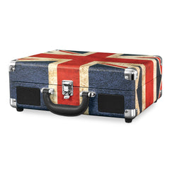 Victrola Bluetooth Portable Suitcase Record Player with 3-speed Turntable, UK Flag