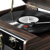 Image of Victrola Bluetooth Mid Centry Record Player with 3-speed Turntable and Radio