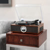 Image of Victrola 5-in-1 Bluetooth Record Player with 3-Speed Turntable, CD and Radio