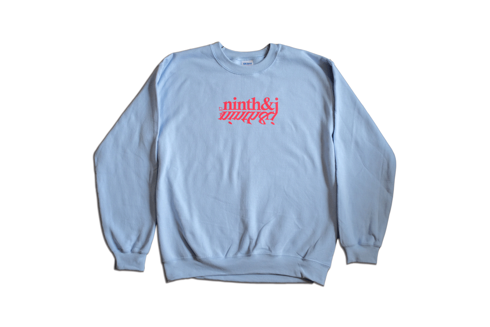 Mirror Crewneck in Soft Blue