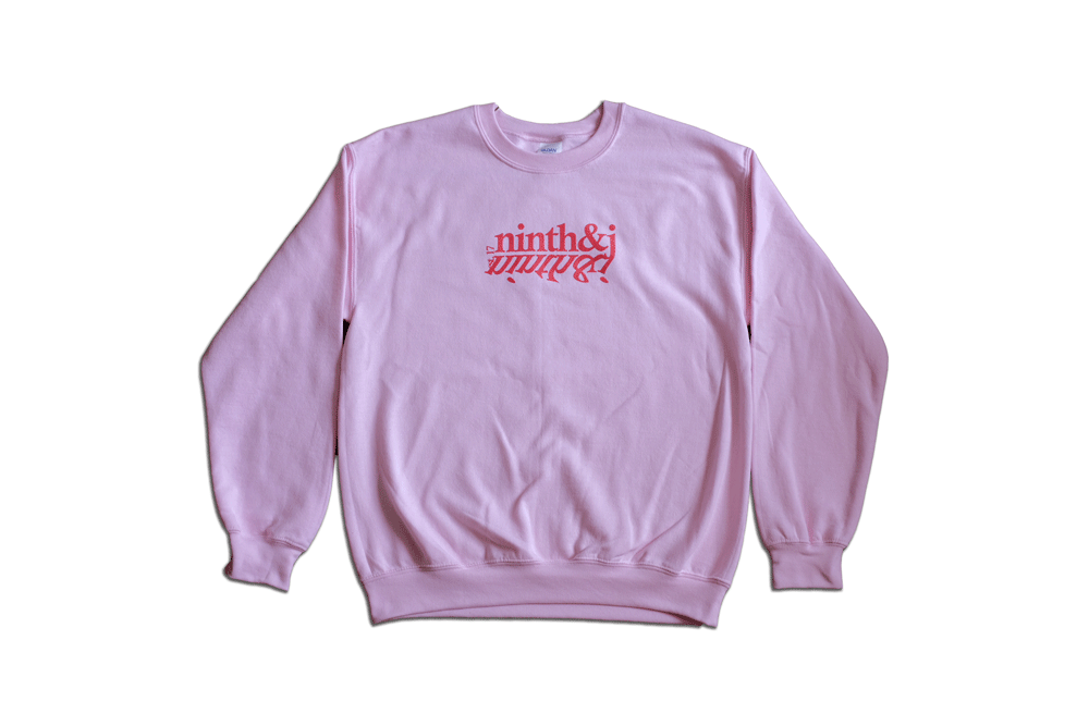 Mirror Crewneck in Soft Pink