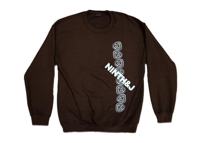 """FLIPPED WILLIES"" Crewneck Sweatshirt in Brown"