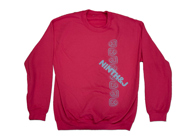 """FLIPPED WILLIES"" Crewneck Sweatshirt in Bright Pink"