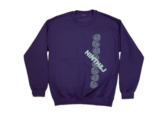 """FLIPPED WILLIES"" Crewneck Sweatshirt in Purple"