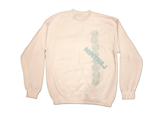 """FLIPPED WILLIES"" Crewneck Sweatshirt in White"