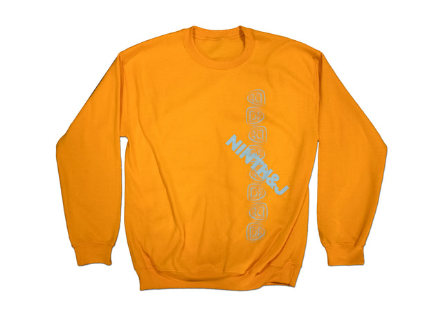 """FLIPPED WILLIES"" Crewneck Sweatshirt in Yellow"