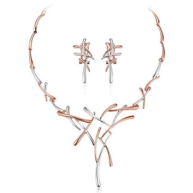 Rose gold/Silver Jewelry Sets