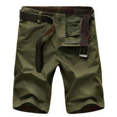 Camouflage Shorts - Army Green / 34 - Bottomwomen