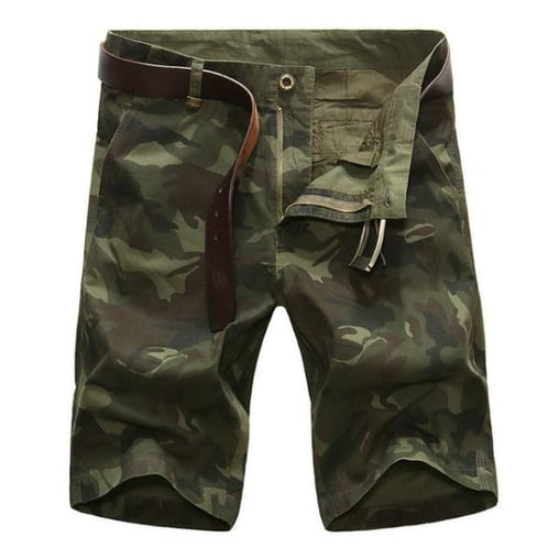 Camouflage Shorts - Green Camouflage / 34 - Bottomwomen
