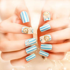 Candy Nails - Blue - Makeup