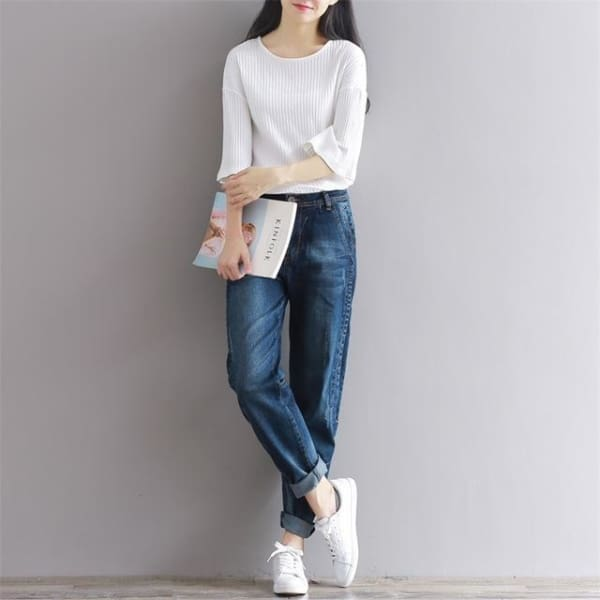 Casual Jeans - Dark Blue / S - Bottomwomen