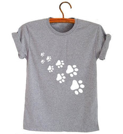 Cat Paws - Gray White / S - Shirts