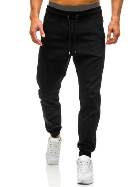 Diaz Men Joggers Pants - Black / Xl