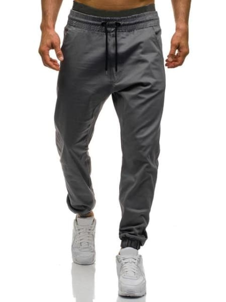 Diaz Men Joggers Pants - Gray / Xl