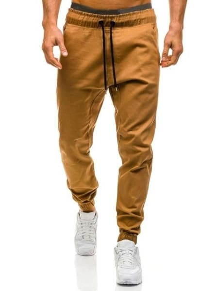 Diaz Men Joggers Pants - Khaki / Xl