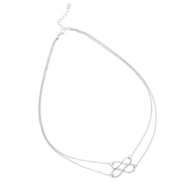 Double Infinity - Silver - Necklace