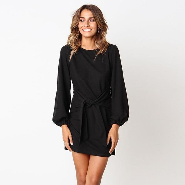 Elegant Dress - 100002Black / S - Dress