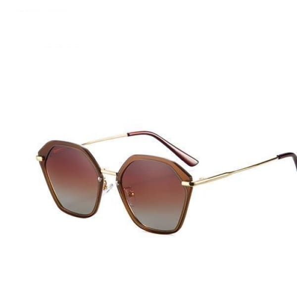 Fashion Cat Eye - Brown - Sunglasses