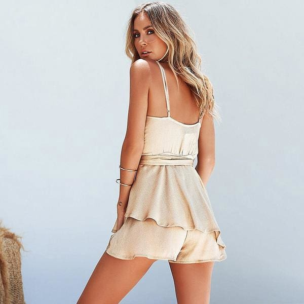 Gold Ruffles - Dress