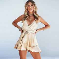 Gold Ruffles - Gold / S - Dress